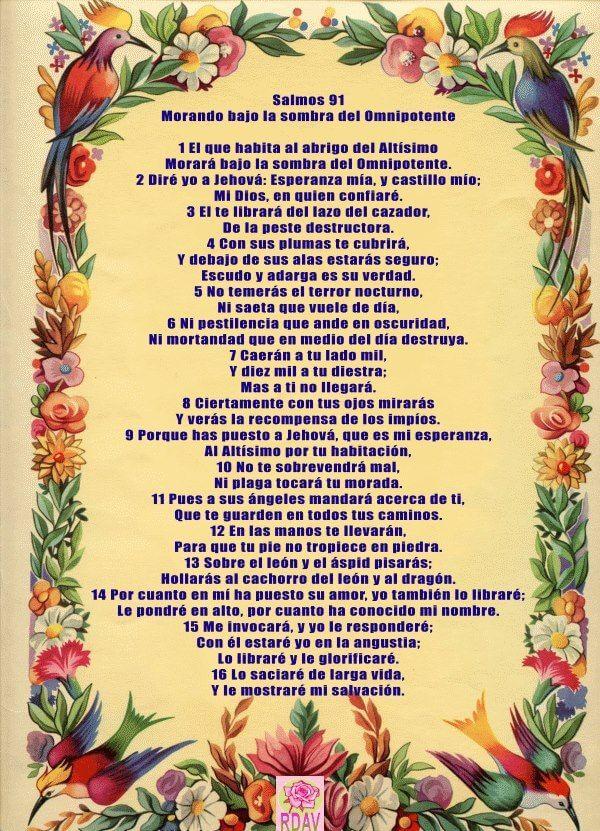 salmo 91 en imágenes