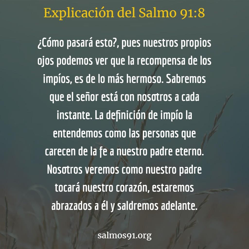 explicación del salmo 91 8