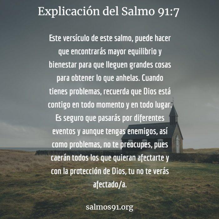 salmo 91 versiculo 7 explicación