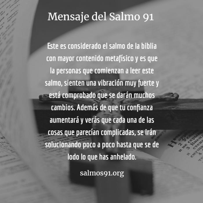 mensaje de la oración 91