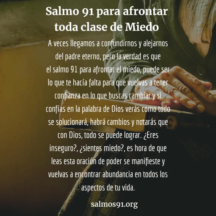 salmo 91 contra el miedo