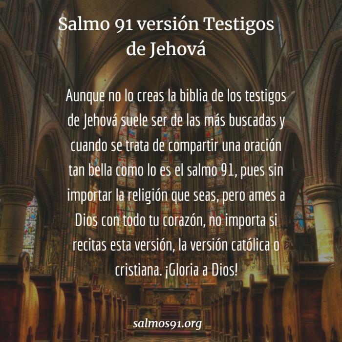 salmo 91 de los testigos de Jehová