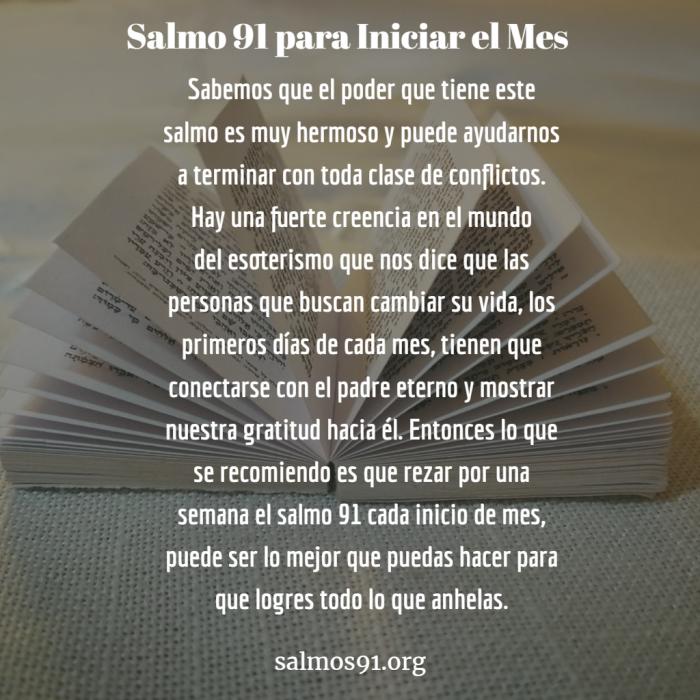 salmo 91 para iniciar el mes