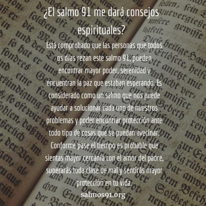 salmo 91 consejo espiritual