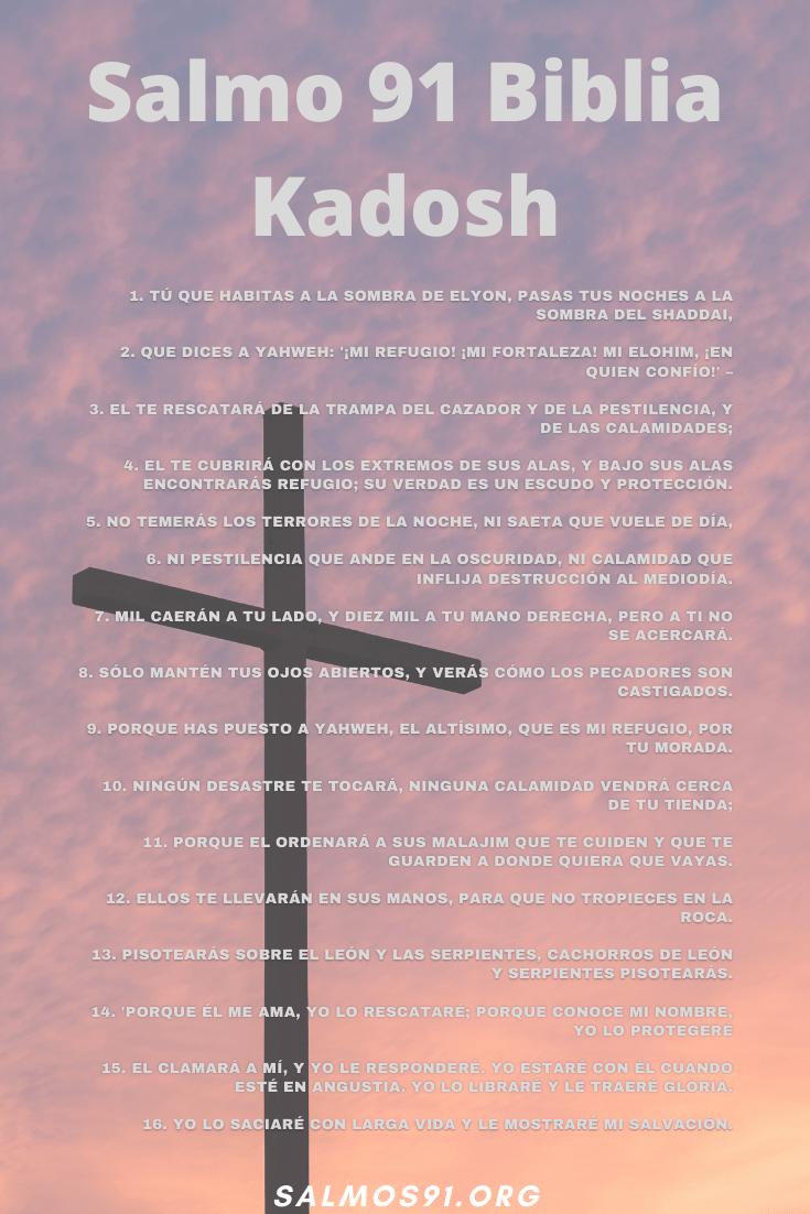 imagen del Salmo 91 Biblia Kadosh