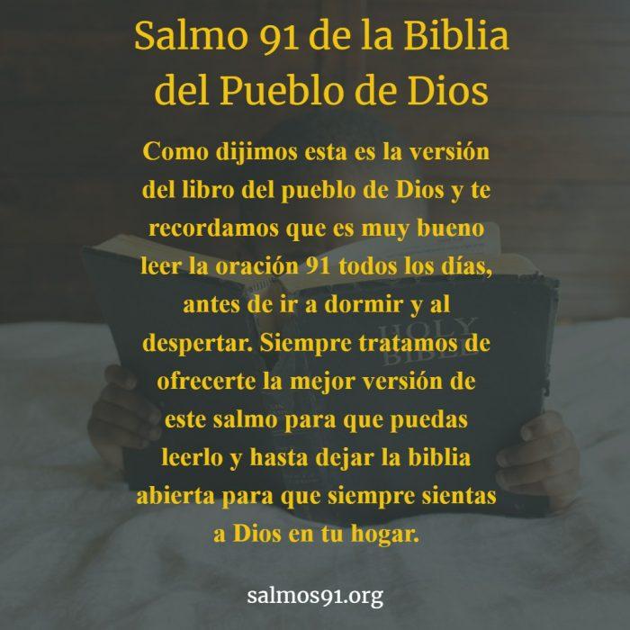 salmo 91 biblia del pueblo de Dios