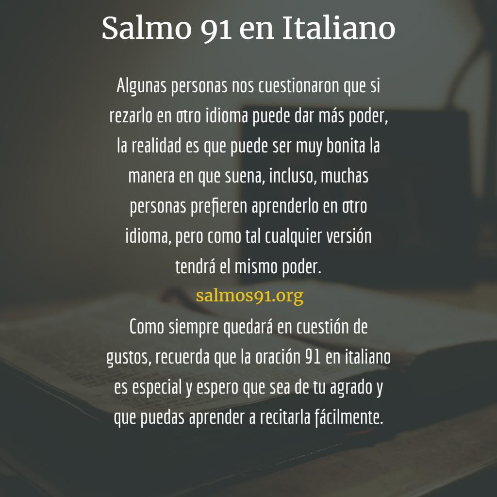 salmo 91 en idioma italiano