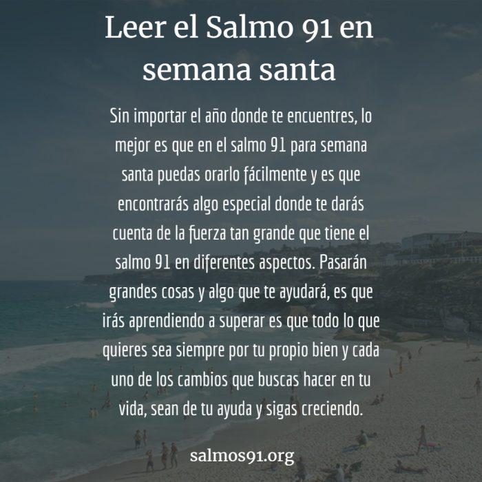 salmo 91 en semana santa