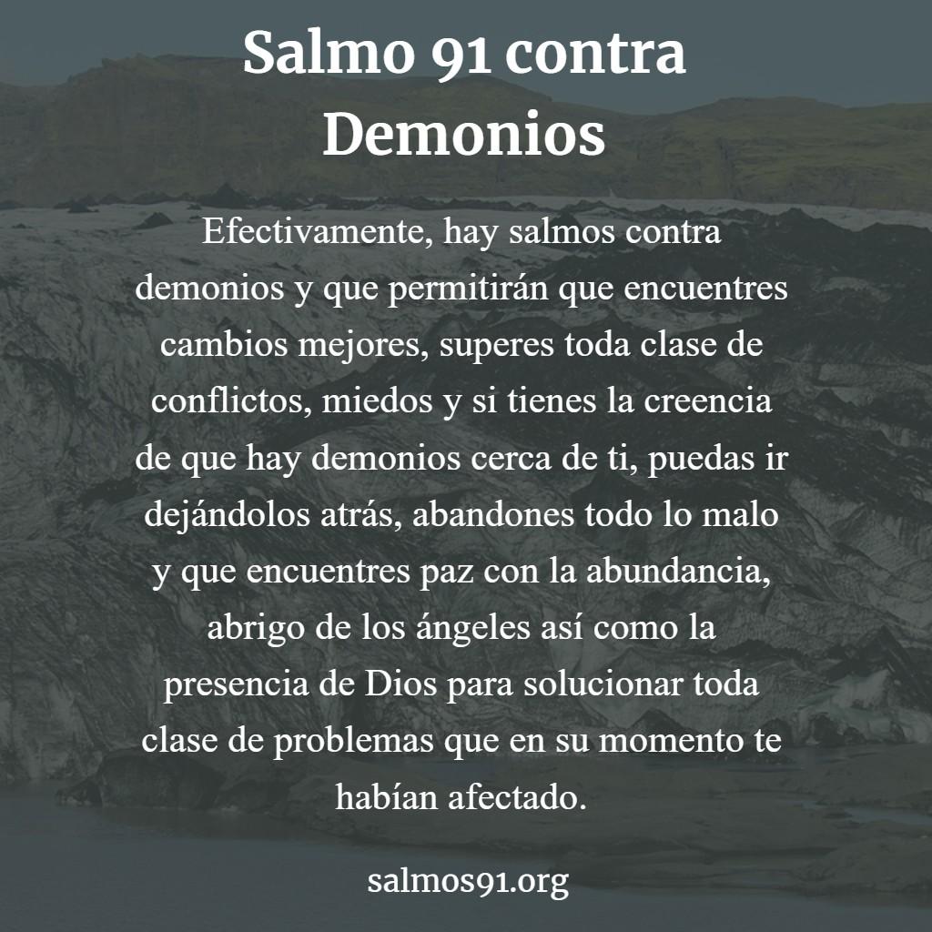 salmo 91 contra demonios