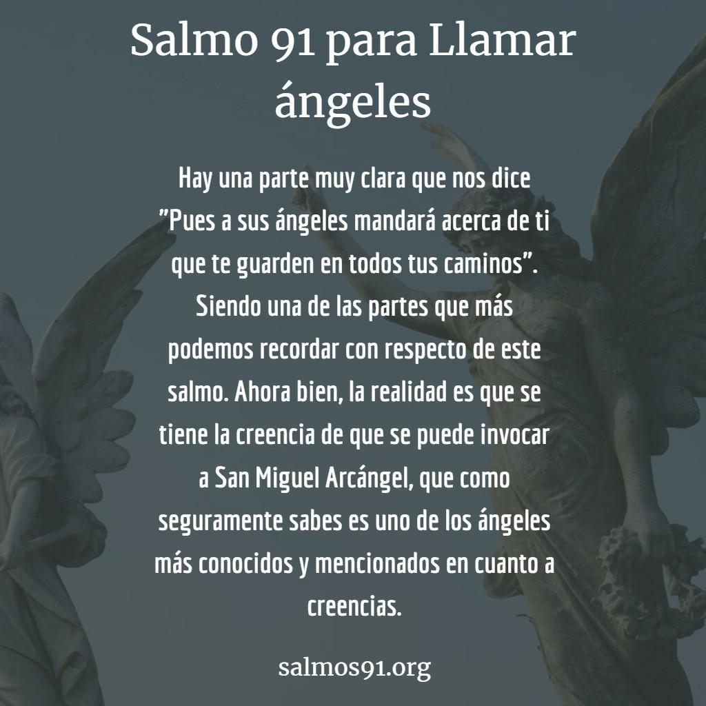 salmo 91 para llamar ángeles