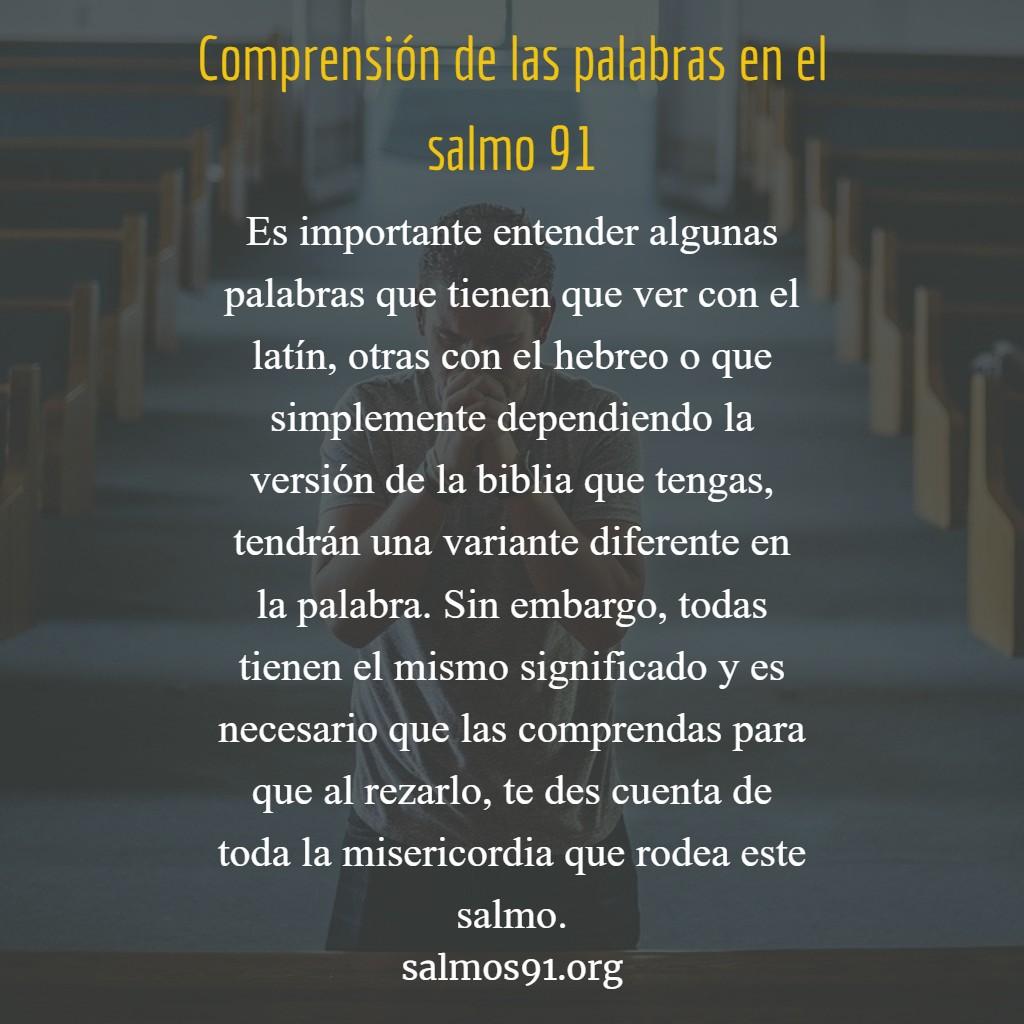 comprensión del salmo noventa y uno