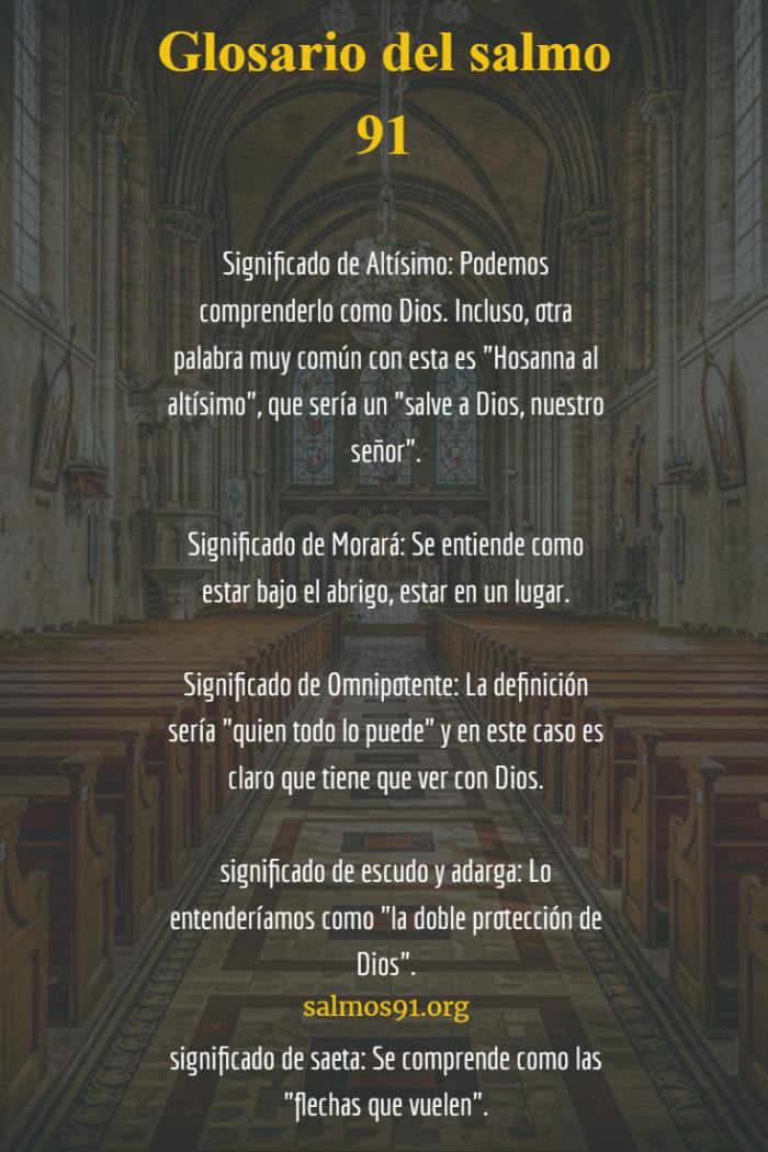 glosario del salmo 91